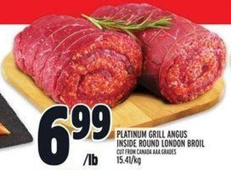 Platinum Grill Angus Inside Round London Broil