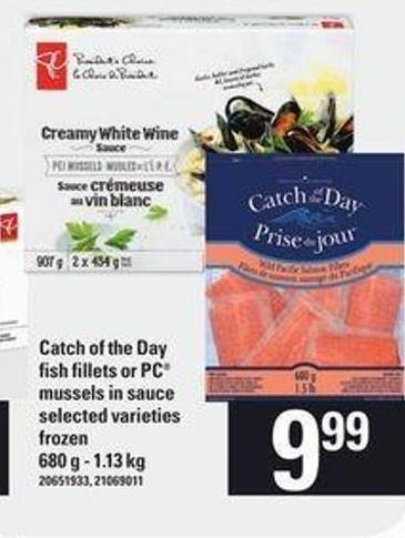 Catch Of The Day Fish Fillets Or PC Mussels In Sauce - 680 g - 1.13 Kg