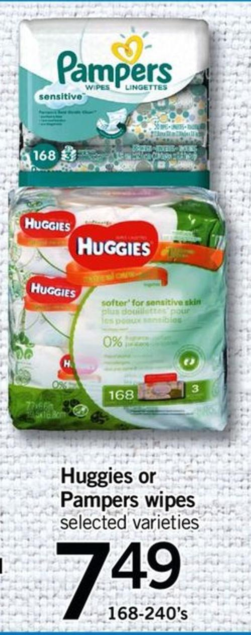 Huggies Or Pampers Wipes - 168-240's