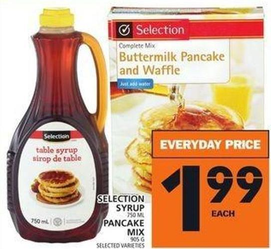 Selection Syrup Or Pancake Mix