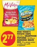 Miss Vickie's Potato Chips 200/220 g - Smartfood Popcorn 150-220 g or Munchies Snack Mix 272 g