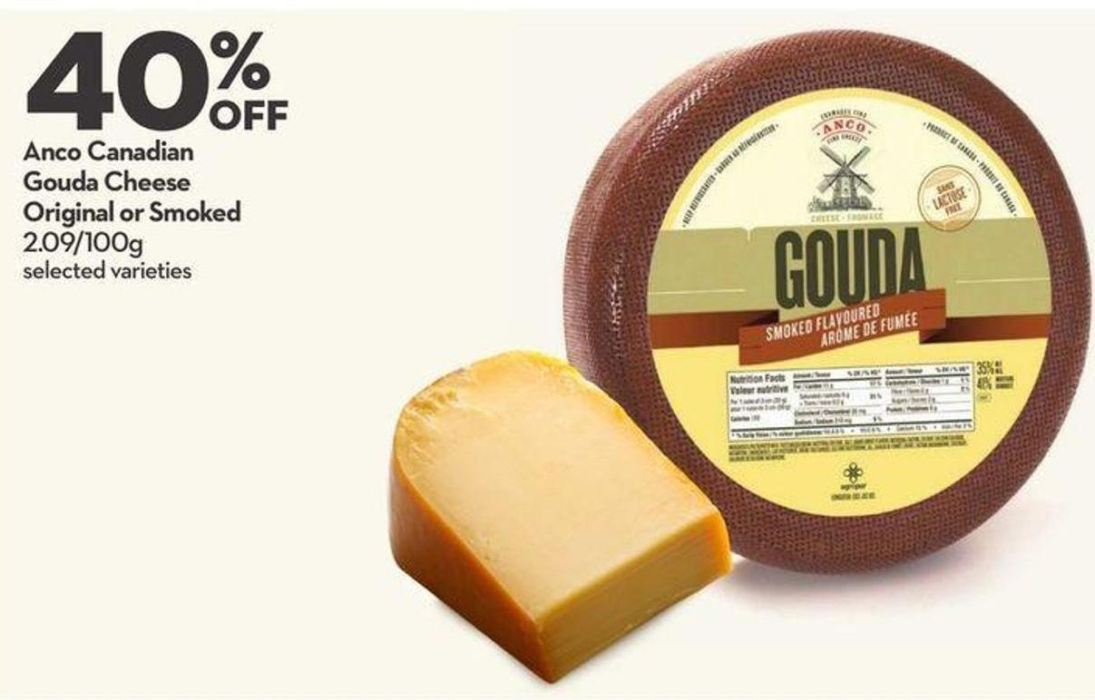 Anco Canadian Gouda Cheese Original or Smoked