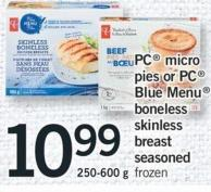 PC Micro Pies Or PC Blue Menu Boneless Skinless Breast Seasoned - 250-600 g
