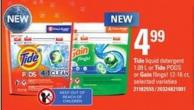 Tide Liquid Detergent - 1.09 L Or Tide PODS Or Gain Flings! - 12-16 Ct