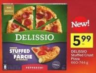 Delissio Stuffed Crust Pizza 660-744 g