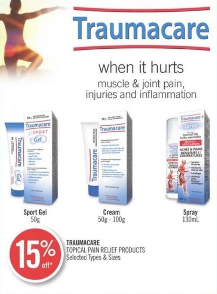 Traumacare Topical Pain Relief Products