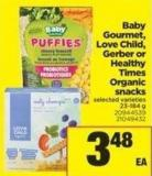 Baby Gourmet - Love Child - Gerber Or Healthy Times Organic Snacks - 23-184 g