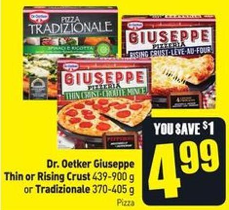Dr. Oetker Giuseppe Thin or Rising Crust 439-900 g or Tradizionale 370-405 g