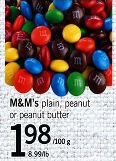 M&m's Plain - Peanut Or Peanut Butter