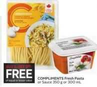 Compliments Fresh Pasta or Sauce 350 g or 300 mL