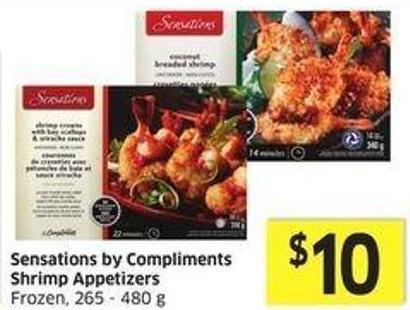 Sensations By Compliments Shrimp Appetizers Frozen - 265 - 480 g
