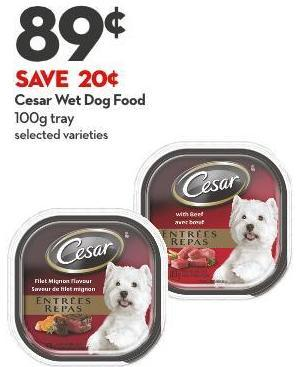 Cesar Wet Dog Food 100g Tray