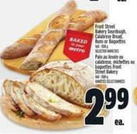 Front Street Bakery Sourdough - Calabrese Bread - Buns Or Baguettes 160 - 500 g