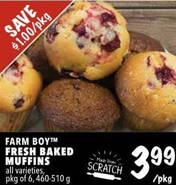 Farm Boy Fresh Baked Muffins