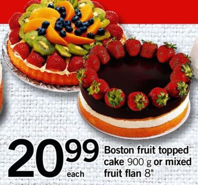 Boston Fruit Topped Cake - 900 G Or Mixed Fruit Flan 8in