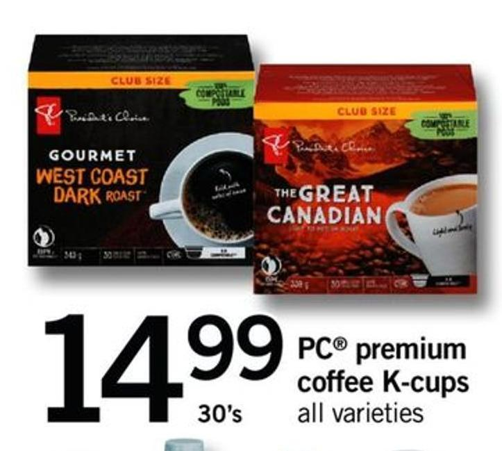 PC Premium Coffee K-cups - 30's
