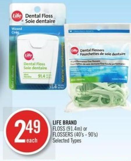 Life Brand Floss (91.4m) or Flossers (40's - 90's)