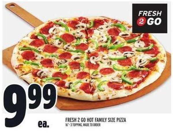 Fresh 2 Go Hot Family Size Pizza