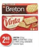 Breton (225g) - Dare Gluten Free (135g) or Vinta (250g) Crackers