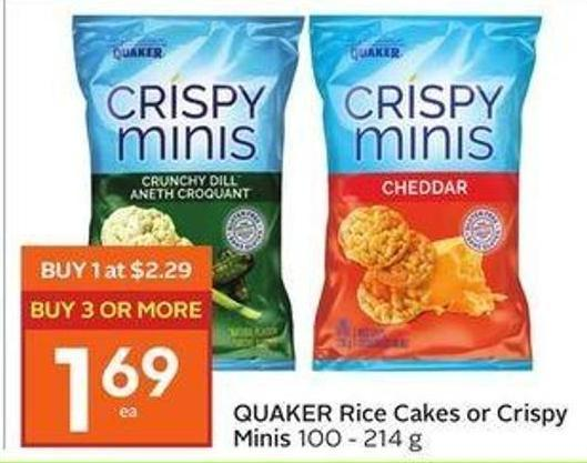 Quaker Rice Cakes or Crispy