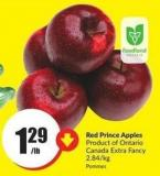 Red Prince Apples Product of Ontario - Canada Extra Fancy 2.84/kg