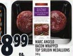 Marc Angelo Bacon Wrapped Top Sirloin Medallions