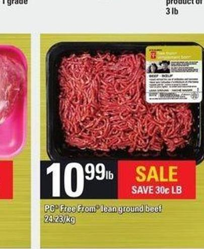 PC Free From Lean Ground Beef