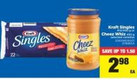 Kraft Singles - 410/450 G Or Cheez Whiz - 450 G