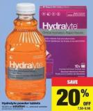 Hydralyte Powder Tablets - 10/20's Or Solution - 1 L