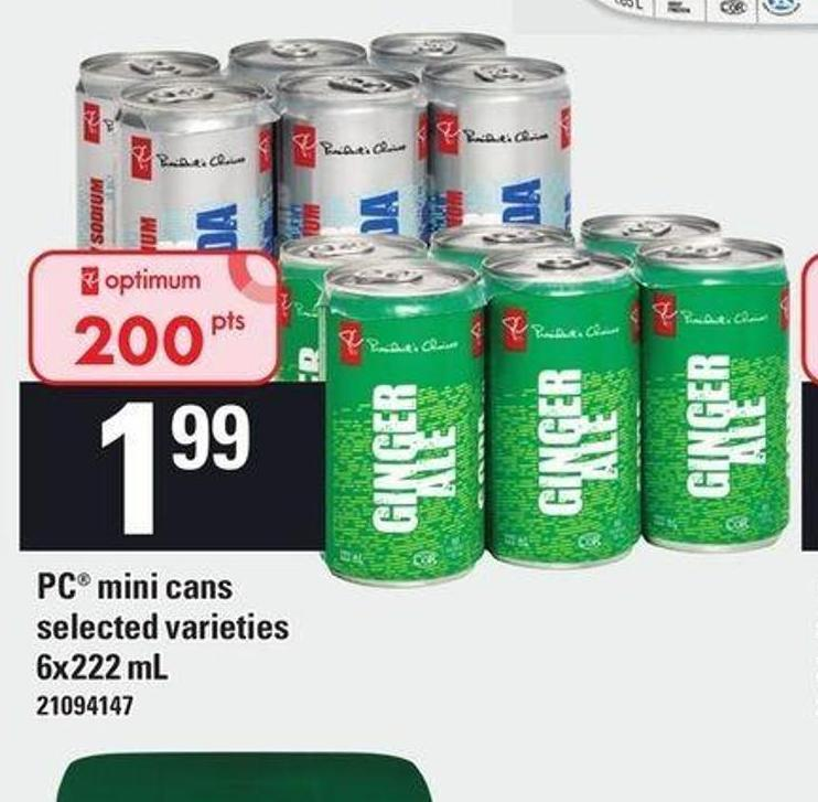 PC Mini Cans - 6x222 mL