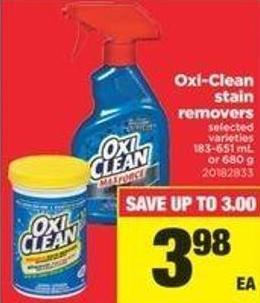 Oxi-clean Stain Removers - 183-651 Ml Or 680 G