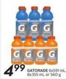 Gatorade 6x591ml8x355 mL or 560 g