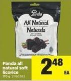 Panda All Natural Soft Licorice 170 g