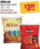 Frito-lay Multi Pack Chips 10's - 12's