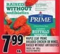 Maple Leaf Prime Breaded Chicken Or Wings - Raised Without Antibiotics