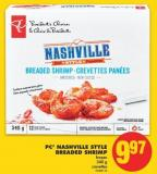 PC Nashville Style Breaded Shrimp - 340 g