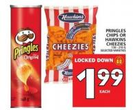 Pringles Chips Or Hawkins Cheezies