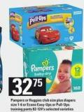 Pampers Or Huggies Club Size Plus Diapers Size 1-6 Or Econo Easy-ups Or Pull-ups Training Pants - 82-124's