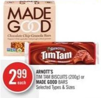 Arnott's Tim Tam Biscuits (200g) or Made Good Bars