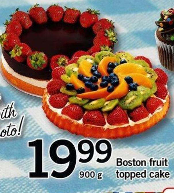 Boston Fruit Topped Cake