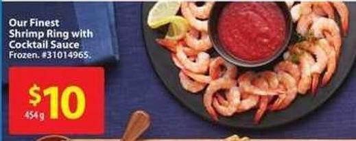 Our Finest Shrimp Ring With Cocktail Sauce