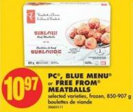 PC - Blue Menu or Free From Meatballs - 850/907 g