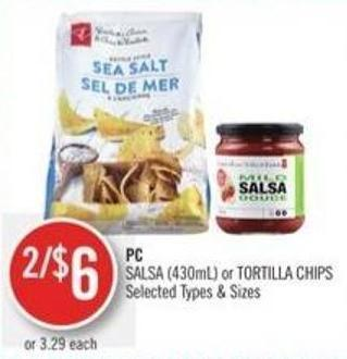 PC Salsa (430ml) or Tortilla Chips