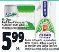Mr. Clean Freak Deep Cleaning Or Swiffer Dry Cloth Refills