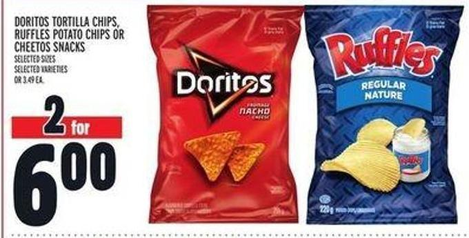 Doritos Tortilla Chips - Ruffles Potato Chips or Cheetos Snacks