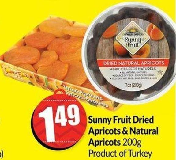 Sunny Fruit Dried Apricots & Natural Apricots 200g