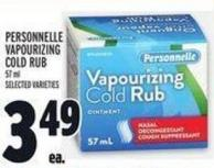 Personnelle Vapourizing Cold Rub 57 ml