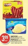 Breyers Classic Frozen Dessert (1.66l) or Popsicle Novelty Bars