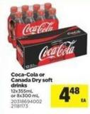 Coca-cola Or Canada Dry Soft Drinks - 12x355ml Or 8x300 Ml