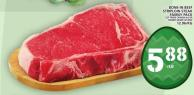 Bone-in Beef Striploin Steak Family Pack